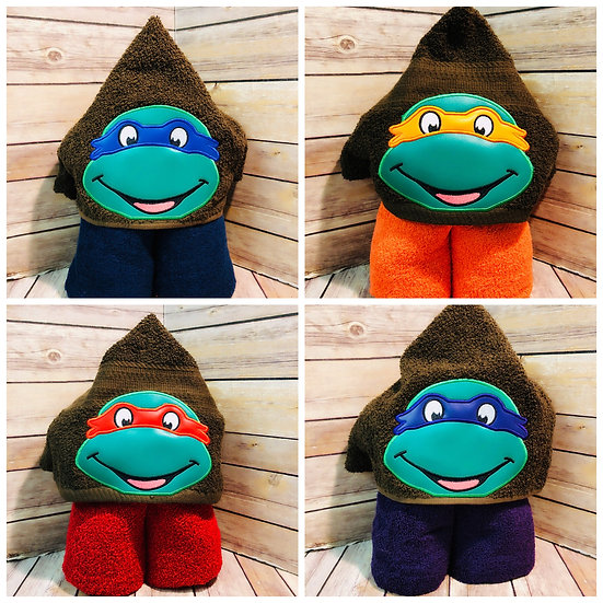 Fighting Turtles Hooded Towel - Choose your Character
