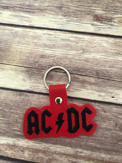 ACDC Band Embroidered Key Chain