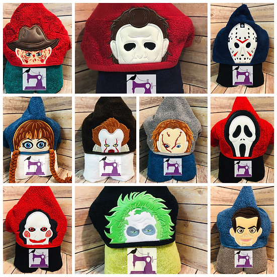 Horror Movie Inspired Hooded Towel - Choose your Character