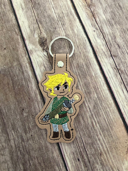 Link Embroidered Key Chain