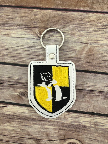 Spell Academy Badger House Embroidered Key Chain