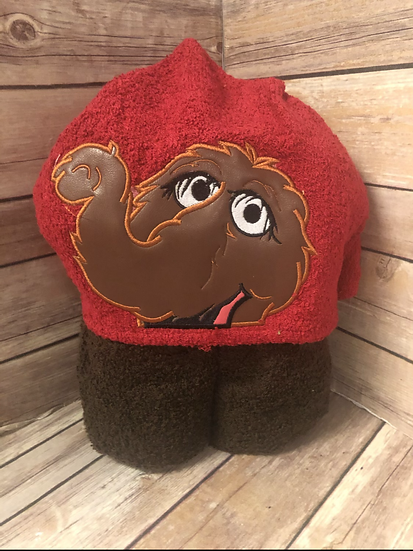 Snuffy Child Size Hooded Towel - Ready to Ship