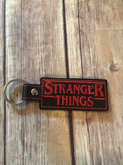 Strange Thing Embroidered Key Chain