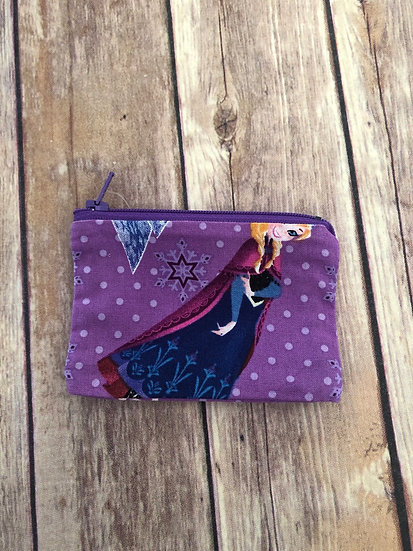 Frozen Anna on purple Pouch - Ready to Ship
