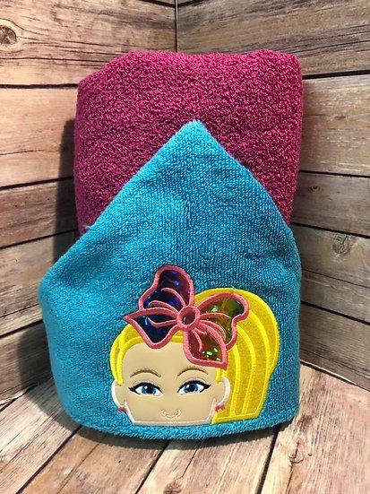 Bow Girl Hooded Towel