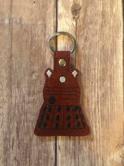 Dr Who Dalek Embroidered Key Chain