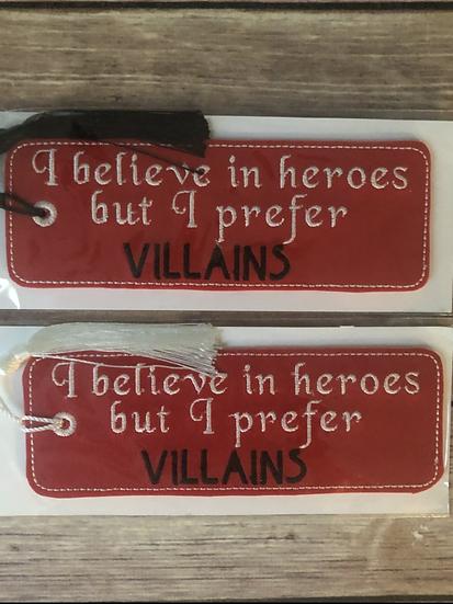Prefer Villains Red Vinyl Bookmark - Ready to Ship