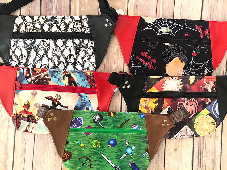 Waist Bag-Fanny Pack! Choose your Design! Ready to Ship!