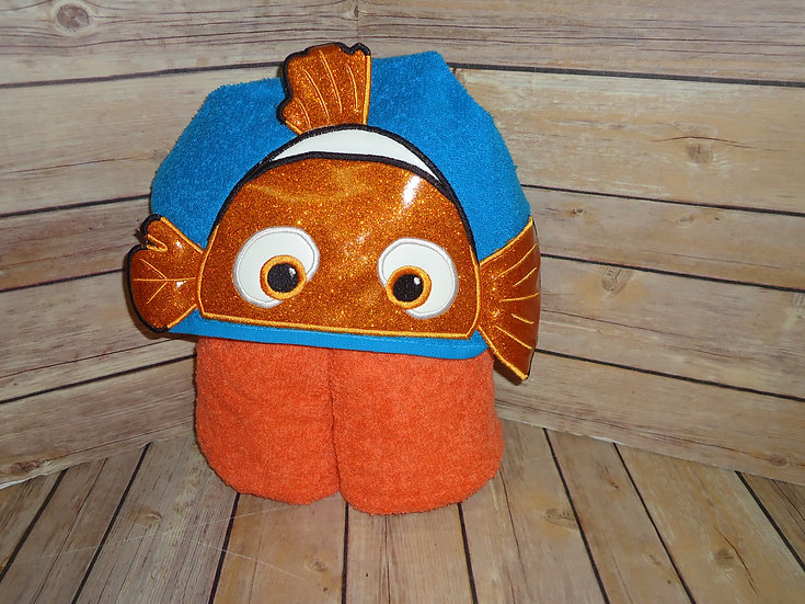 Clown Fish Nemo Inspired 3D Hooded Towe
