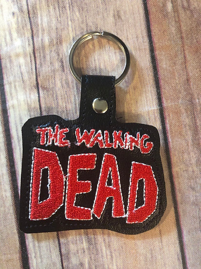 The Walking Dead Embroidered Key Chain
