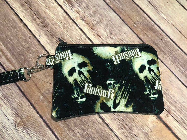Punisher Themed Wristlet - Ready to Ship