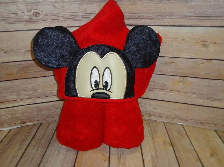 Mickey Mouse Inspired 3D Hooded Towel