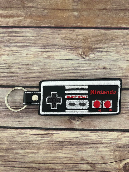 Nintendo Game Controller Embroidered Key Chain