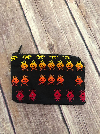 Space Invaders Zipper Pouch - Ready to Ship