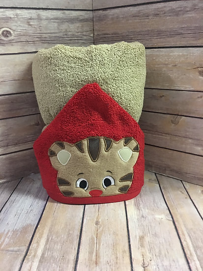 Daniel Tiger Inspired Hooded Towel