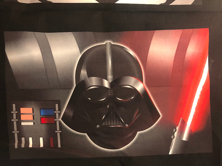 Darth Vader Themed Washable Fabric Face Mask - Elastic or Ties