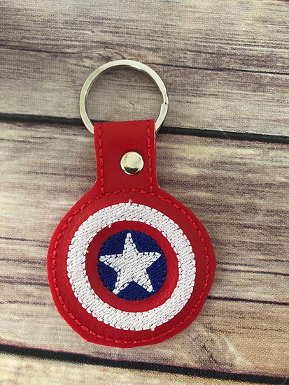 Captain America Embroidered Key Chain