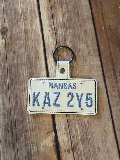Supernatural Car License Plate Embroidered Key Chain
