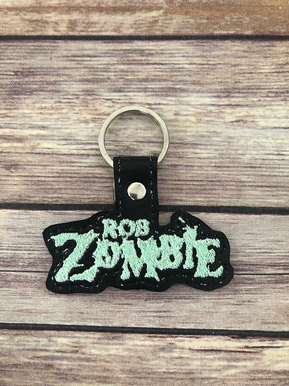 Rob Zombie Band Embroidered Key Chain