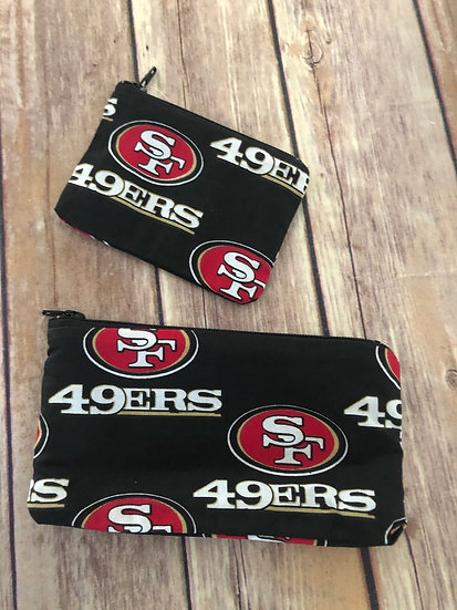 SF 49ers Zipper Pouch - Ready to Ship