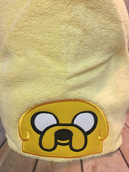 Adventure Time Jake the Dog Inspired Hooded Towel
