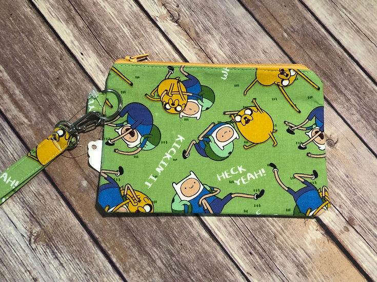 Adventure Time themed Wristlet - Ready to Ship