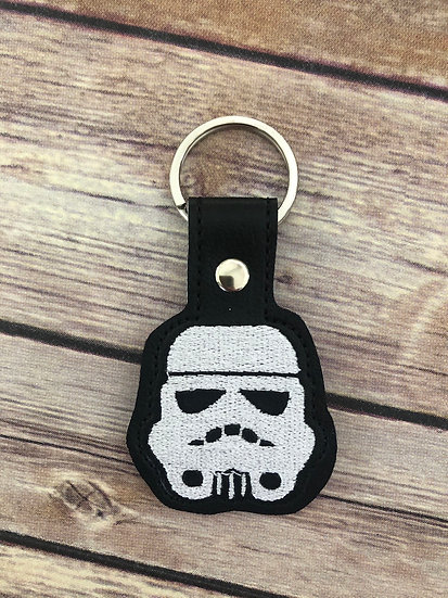 S W Storm Trooper Embroidered Key Chain