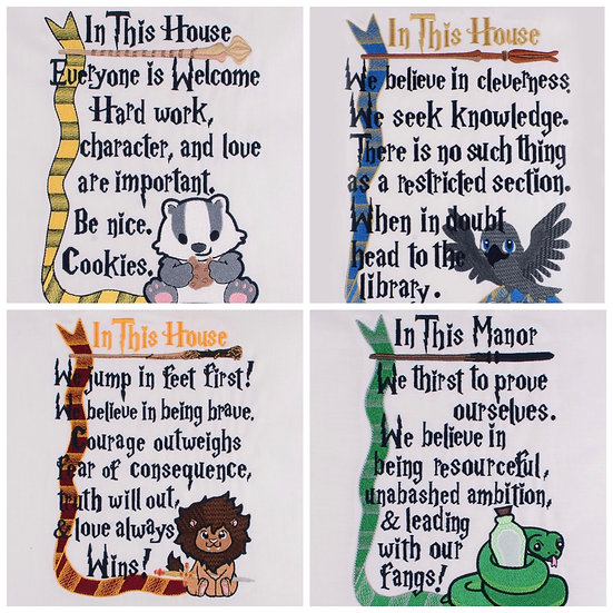 In This Wizard House Wall Art Choose Your House- Made To Order