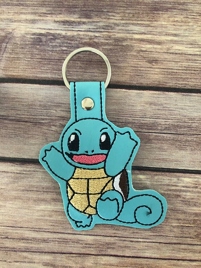 Pocket Monster Squirtle Embroidered Key Chain