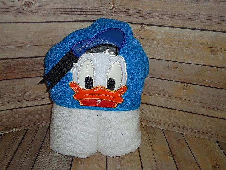Boy Duck 3D Hooded Towel