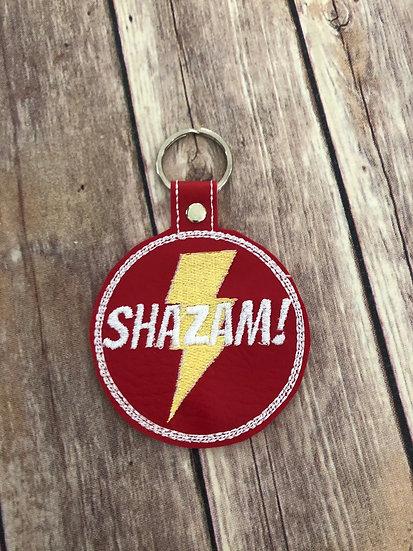 Shazam! Embroidered Key Chain