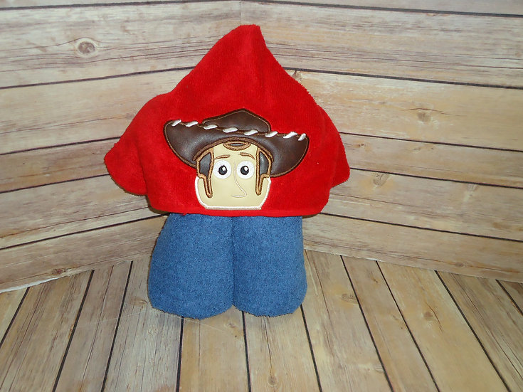 Toy Cowboy Hooded Towel