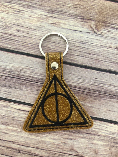 Spell Academy Deathy Hallows Embroidered Key Chain