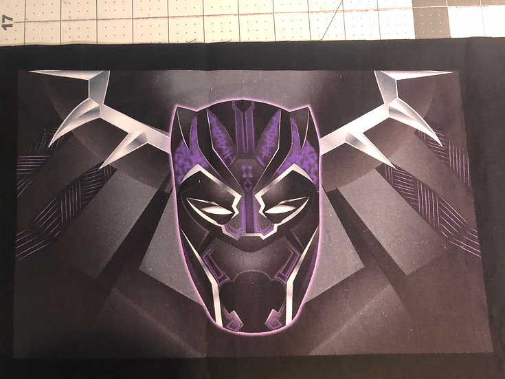 Black Panther Themed Washable Fabric Face Mask - Elastic or Ties