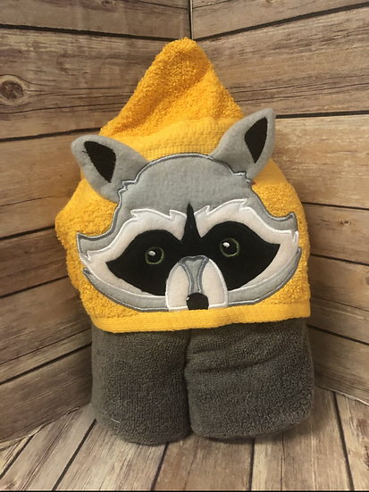 Racoon 3D Child Size Hooded Towel - Ready to Ship