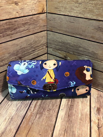 Coraline themed Necessary Clutch Wallet - Made to Order