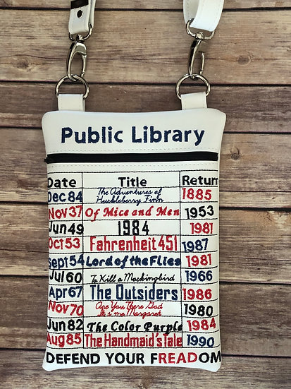 Banned Books Crossbody Bag - Made to Order