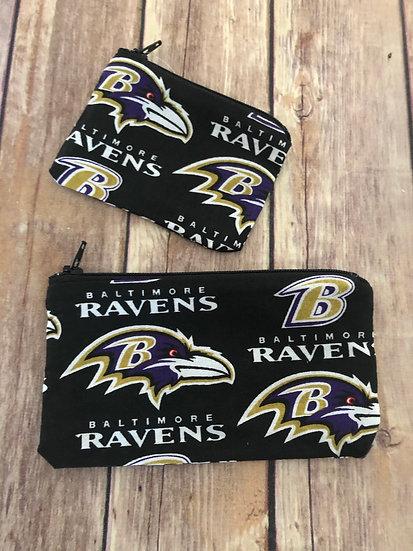 Ravens Zipper Pouch - Ready to Ship