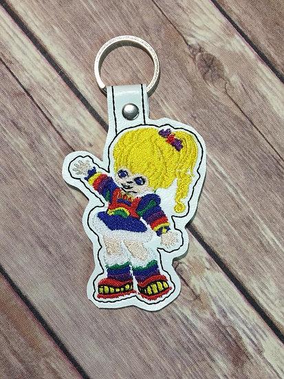 Rainbow Brite Embroidered Key Chain