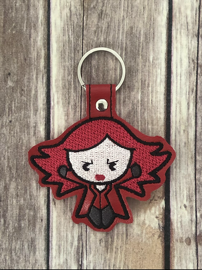 Scarlet Witch Chibi Embroidered Key Chain