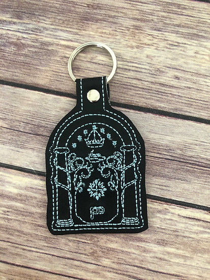 LOTR Doors of Durin Embroidered Key Chain