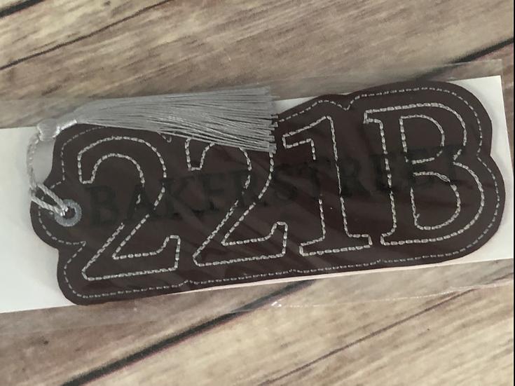 221B Baker Street Vinyl Bookmark - Ready to Ship