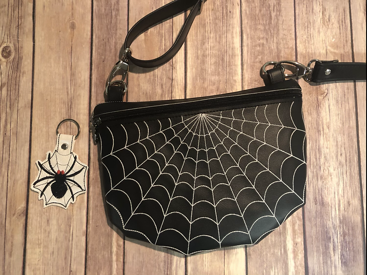 Glow in the Dark Spider Web Crossbody Bag - MADE TO ORDER