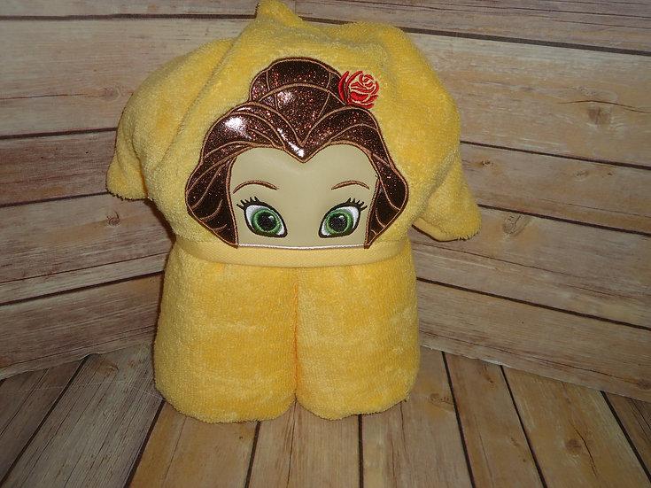 Belle Inspired Hooded Towel