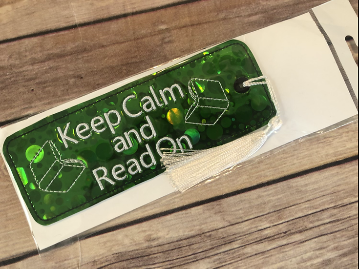 Keep Calm and Read On Vinyl Bookmark - Ready to Ship