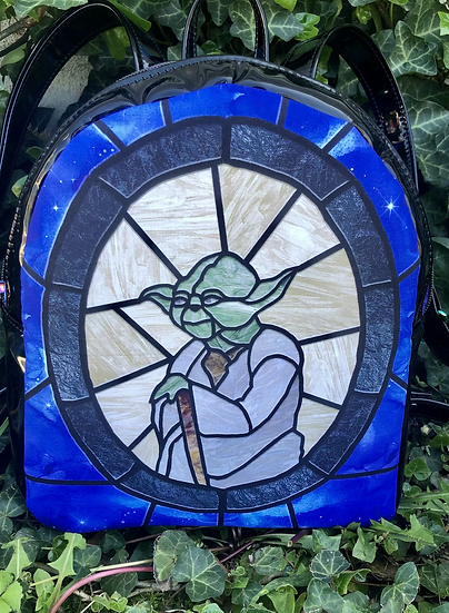 Stained Glass Force Master themed Mini Backpack Purse