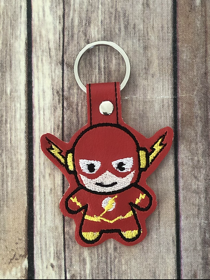 The Flash Chibi Embroidered Key Chain