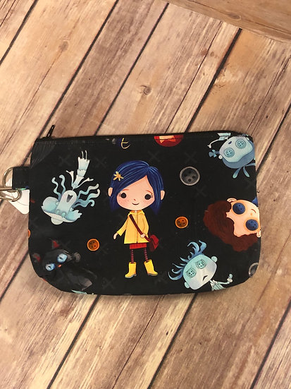 Coraline themed Wristlet - Ready to Ship