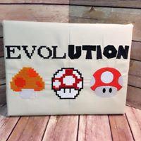 Evolution of Mario Mushrooms - Wall Art - Ready To Ship