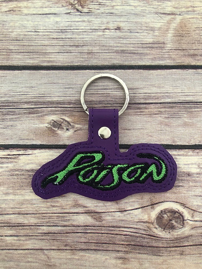 Poison Embroidered Key Chain